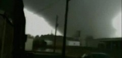 This tornado slammed Adairsville, GA, and destroyed Daiki - a small fabricating shop there.